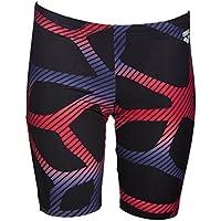 Arena Boys' B Spider Swim Jammer - Bañador para Niños, Negro (Black/Red), 116 (6 - 7)