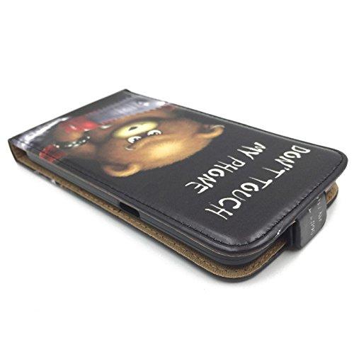 König Boutique Housse Coque de protection Case Housse étuis Wallet DONT TOUCH MY PHONE