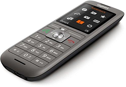 Gigaset CL660A Telefon – Schnurlostelefon / Mobilteil – mit Farbdisplay / Grosse Tasten – Design Telefon / Anrufbeantworter / Freisprechen / Analog Telefon, anthrazit - 4