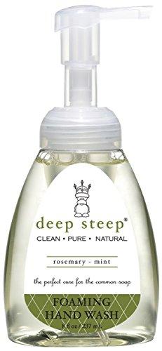 Seife Rosemary Mint (Deep Steep Classic Foaming Hand Wash, Rosemary Mint, 8 Fluid Ounce)