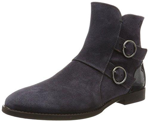 Marc O'Polo Damen Flat Heel Bootie 70714156001308 Stiefel, Grau (Grey), 38 EU (Damen Flat Heel Stiefel)