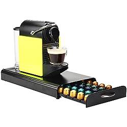 RECAPS Edelstahl Kaffee Kapseln Halter Karussell Kompatibel Mit Jalousie 50 Nespresso Pods Schwarz Farbe