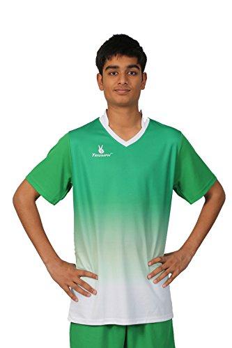 Triumph Men's Polyester Soccer Green V Neck Jersey