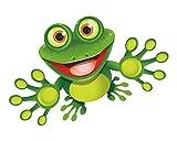 1 Sticker Frosch Funny-Frog I kfz_092 I 15 x 9 cm groß I Auto-Aufkleber Motorrad Roller Notebook Laptop Bad Badezimmer lustig wetterfest