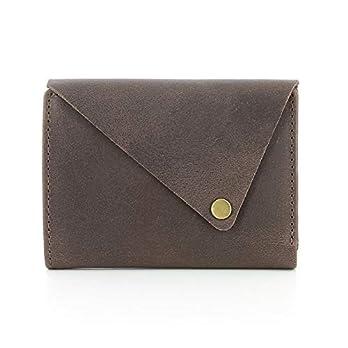 Portemonnaie aus Ökoleder, Geldbörse, Handmade, Handgemachter Geldbeutel, Brieftasche (braun)