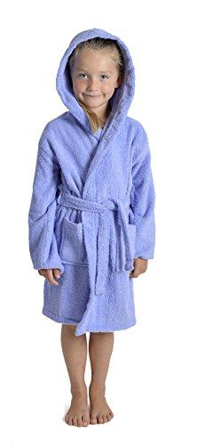 Aumsaa - Albornoz - para niña Azul Lilac Large