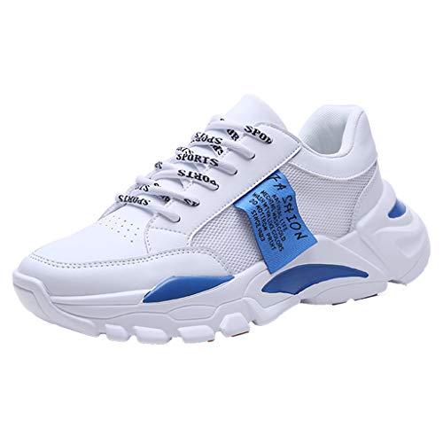 CUTUDE Herren Sneaker Deodorant rutschfest Weicher Boden Schuhe Turnschuhe Männer Laufschuhe Reisen Freizeitschuhe Leicht Bequem Sportschuhe Wanderschuhe (Blau, 41 EU)