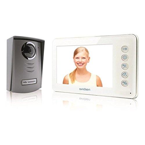 Avidsen 112245Interphone vidéo 2fils, blanc