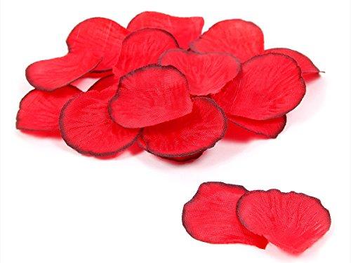 Petali di rosa artificiali 500 pz colore rosso petali di fiore matrimonio nozze festa evento cerimonia decorazione allestimento romantico amore san valentino