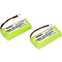 INTENSILO 2x NiMH Batteria 800mAh (2.4V) per Telefono Fisso Cordless Siemens Gigaset AL145 DUO, AL14H, AS14 sostituisce V30145-K1310-X359