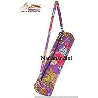 indische handgefertigte Mandala Tapisserie Tasche Hippie Boho b/öhmischen Hippie gro/ße Workout Bag Schultergurt Tasche Yoga Mat Carrier Sporttasche NANDNANDINI TEXTIL