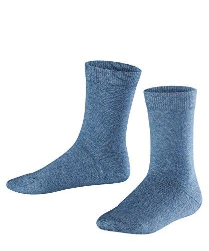 FALKE Kinder Socken Family - 94% Baumwolle - 1 Paar - Größe 35-38, Blau - Kindersocken Unisex Mädchen Jungen lang