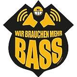 Wir brauchen mehr BASS - Subwoofer Evolution Aufkleber Autoaufkleber Sticker Vinylaufkleber Decal