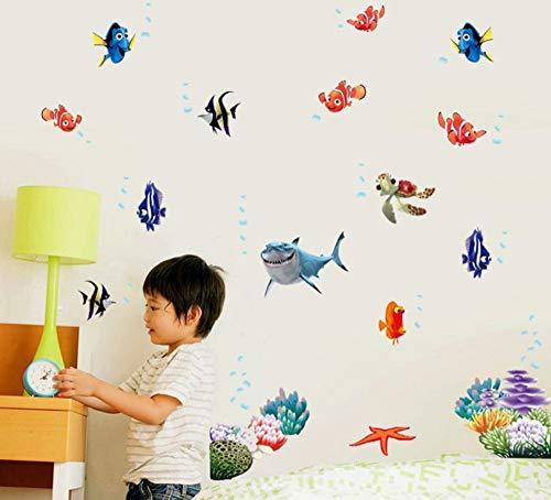 Nemo Fish Cartoon Wandaufkleber Für Dusche Fliesen Aufkleber Im Badezimmer Für Kinder Kinder Baby Auf Bad (Nemo Baby-dusche Dekorationen)