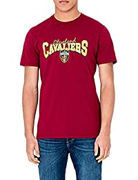A NEW ERA Camiseta NBA Cleveland Cavaliers Team Apparel Granate XS (X-Small)