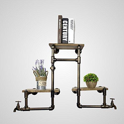 DYF Europäischen ländlichen Industrie Bügeleisen Wandhalterung Bücher Blumen Lagerregal (Goldene Treppe-bücher)