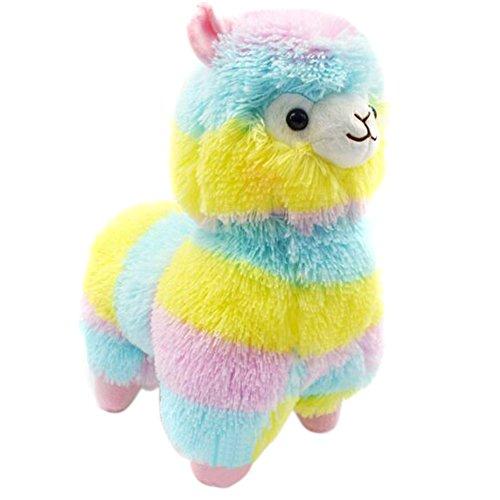 Decdeal Plüsch Alpaka Regenbogen Plüsch Stofftiere für Kinder