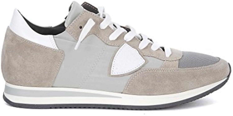 Philippe Model Sneaker Tropez in Veloursleder und Textil Grau