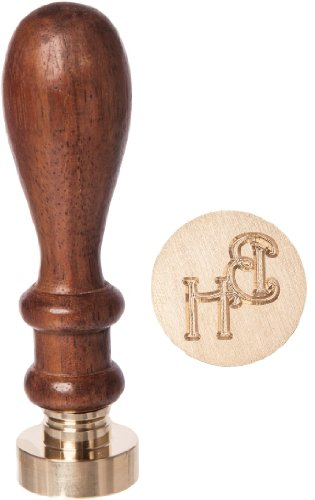 personalised-wedding-initial-letter-wax-seal-stamp-25mm-with-2-or-2-with-a-initials-harrington-font-