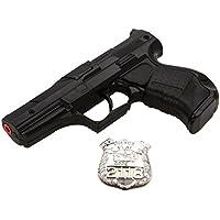 Villa Giocattoli 1240 Polizia Black - Pistola de juguete (metal, 8 disparos, 125 dB)