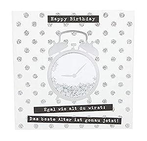 Depesche 8211.025Tarjeta de felicitación Glamour con Ornamento y Purpurina, cumpleaños