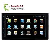 Android 6.0 Mise à Niveau Quad Core 7 Pouces écran Tactile Double Dash 2 Din Car Stereo Universal Car Radio Headunit MP5 Autoradios Soutien GPS Navigation WiFi USB Volant Bluetooth