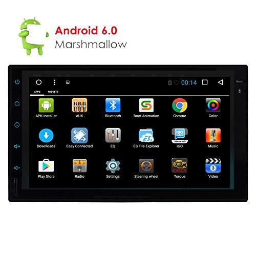 Aggiornato Android 6.0 Quad Core touch screen 7 pollici in doppio del precipitare Stereo 2 DIN universale Autoradio Headunit MP5 Player Car Audio, GPS WIFI di sostegno di navigazione USB Bluetooth de