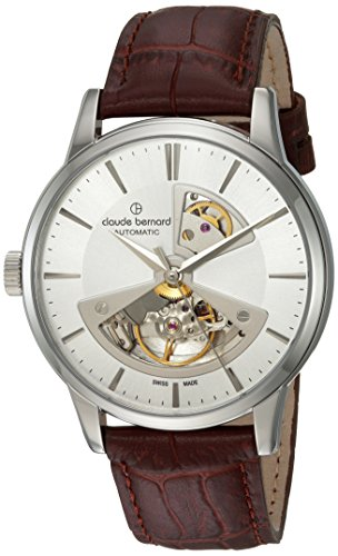 claude bernard Men's Analogue Swiss-Automatic Watch with Leather Strap 85017 3 AIN2