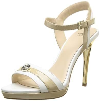 Versace Jeans Marylin Bijou, Sandales femme - Blanc (M86), 38 EU