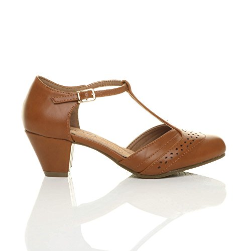 ... Découper Escarpins Roux Moyen Femmes Salomé Richelieu Chaussures Ajvani  Mat Talon Brun Pointure 0ZqpI ... 18d82a4e85f1