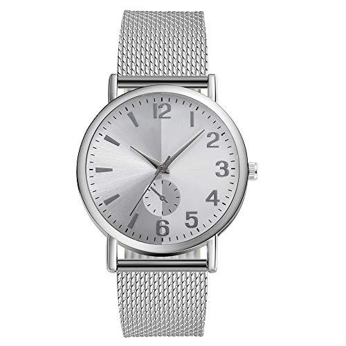 Mitlfuny Unisex Männer Frauen Mode Armbanduhren 2019,Mode Frauen Uhren Roman Leather Band Analoge Quarz-Armbanduhr Beige