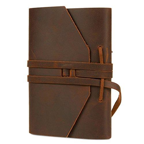 Bound Notizbuch Tagebuch-Faux Leder ungefüttert Papier Tagebuch Notizbuch Geschenk für Reisen Schreiben, Zeichnen, Skizzieren, Planung-12,7x 17,8cm (Zeichnen Schreiben Tagebuch Und)