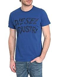DIESEL - T-shirt - Homme - T Shirt bleu imprimé Diesel Aethalas pour homme