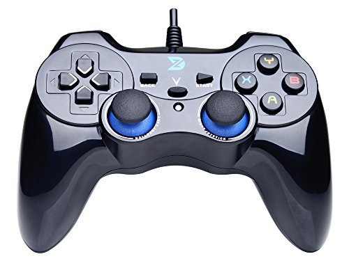 Zhidong V Full Vibration Feedback USB Wired Controller Gamepad Joystick For Windows XP/7/8/8.1 & Android & PlayStation 3 (PS Architecture & Xbox360 Engine) – Not support the Xbox 360 41EEydk3d7L