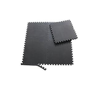 Sporttrend 24 – Schutzmatten Set 4-72teilig schwarz 60x60x1cm | Bodenschutzmatte Unterlegmatte für Fitnessgeräte Sportgeräte