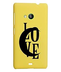KolorEdge Back Cover For Microsoft Lumia 535 - Yellow (2308-Ke15106Lumia535Yellow3D)