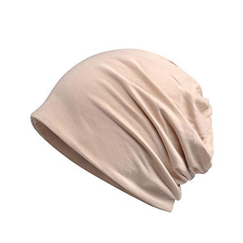 Amorar Doppelter Zweck Einfacher Schal Hut, weicher Turban Kopf der Frauen wickelt elastische Schlaf Kappe Slouchy Hut für Chemotherapie Patienten EIN,EINWEG Verpackung