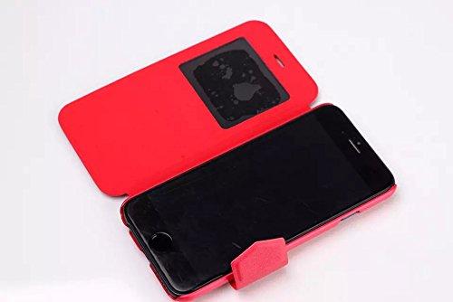 """inShang Hülle für Apple iphone 6 4.7 inch iPhone6 4.7"""", Edles PU Leder Tasche Hülle Skins Etui Schutzhülle Ständer Smart Case Cover für iphone 6 Cell Phone, Handy , Zubehör + inShang Logo hochwertigen line red"""