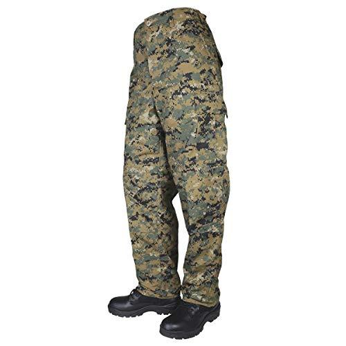 Tru-Spec 1370 Mens Tactical BDU Pants, Woodland Digital Camo Bdu Woodland Camo