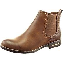 Sopily - Zapatillas de Moda Botines chelsea boots A medio muslo mujer piel de serpiente metálico Talón Tacón ancho 2.5 CM - Camel