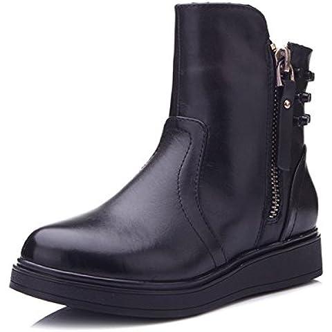 Remaches en moda otoño e invierno de arranque/ lado botas de zip térmica mujer/ Martin boots/Zapatos de mujer