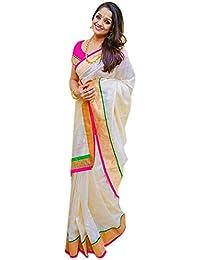 Sky Global Women's Chanderi Cotton Silk Saree (Sky_2346)