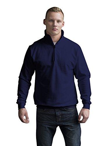 JH046 Sophomore 1/4 Zip Sweatshirt Sweat Pullover, Farbe:New French Navy;Größen:XXL (Cashmere-zip-kapuzen-pullover)