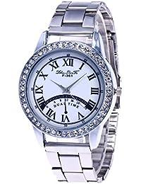 84e4a02b6182 Moda casual para mujer Reloj de cristal Espejo Correa de acero Correa Reloj  de cuarzo