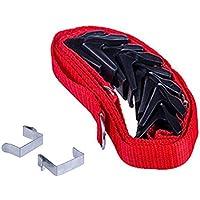 d7ca69eaef625 Kingnew Gorra Plana sombrero Rack almacenar bolso Rack organizador Sport  rack con ganchos ajustables (Rojo