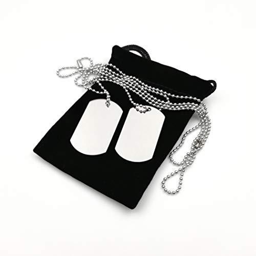 iSavage - Juego de 2 Collares de Acero Inoxidable para Tarjetas de identificación