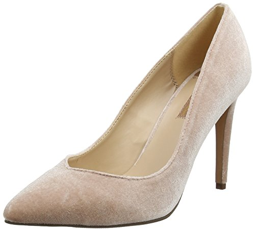 Dorothy Perkins Damen Peep-Toe Pumps Velvet Evie, Rosa (Blush), Gr. 38 (UK 5)
