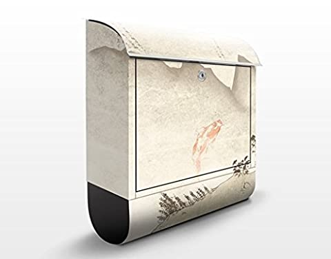 Design Letter Box No.MW8 Japanese Silence | 39x46x13cm Mailbox Postbox Letter Slot Letter Box Decor Foil, Dimensions: 46cm x