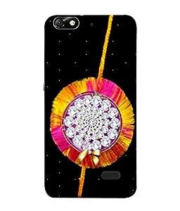 PrintVisa Designer Back Case Cover for Huawei Honor 4C (sparkling stone rakhi lovely wishes)