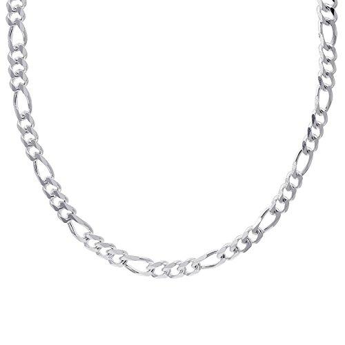 Silverly Collana Uomo Donna Argento 925 Catena Figaro Solido 10 Mm